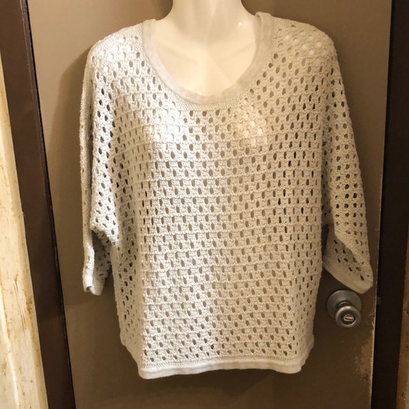 Knitted ivory cream top